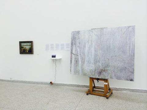 何多苓作品现场,演绎了作品中的风景是如何从现实的观察中而来的