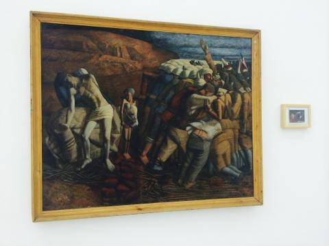 王兴伟《高粱地》140×172cm 布面油画 1991