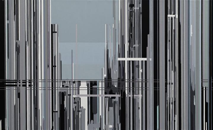 刘韡《紫气》布面油彩180 x 300cm 2009