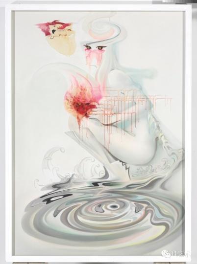 宋琨 《自画像No. 2》160 x 110cm 布面油彩 综合媒材 2014