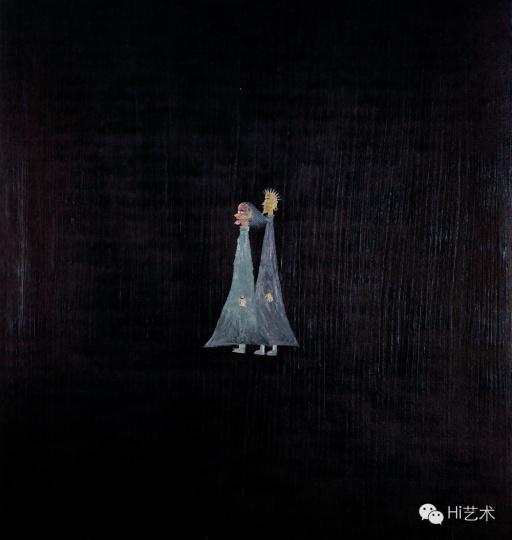 欧阳春《巫婆与神汉No.6》 180 X 170 cm 布面油彩 2007