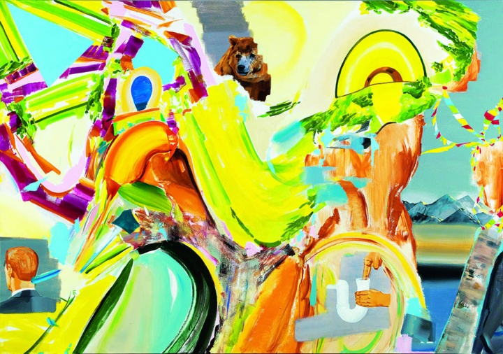 王海洋 《无题》 210 x 300 cm  布面丙烯 2014