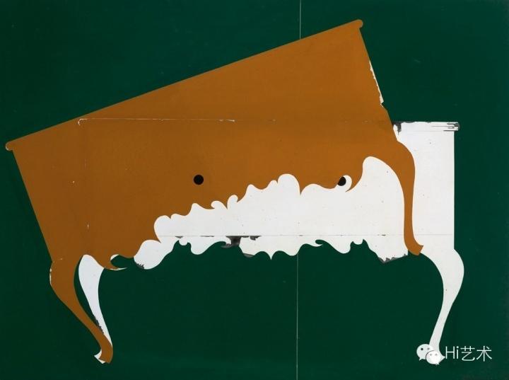 冷广敏 《骑云》 120 x 160 cm 布面丙烯 综合媒材 2012