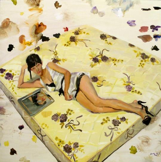 《琪琪》 200x200cm 布面油画 2007