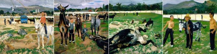 《易马图》 200x800cm 布面油画 2008
