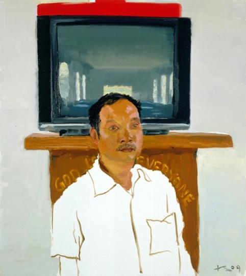 《儿子》 100x90cm 布面油画 2009