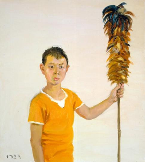 《孙子》 100x90cm 布面油画 2009