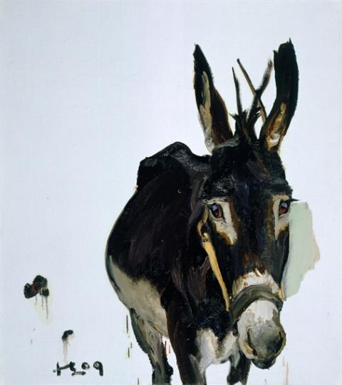 《驴》 100x90cm 布面油画 2009