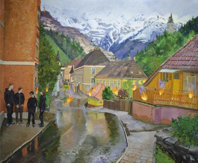 《1841年的火》 250x300cm 布面油画 2012