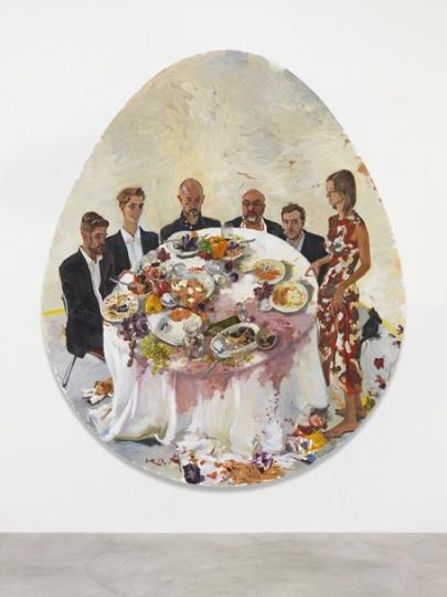 《这些天,很高兴》300x250cm 布面油画 2012