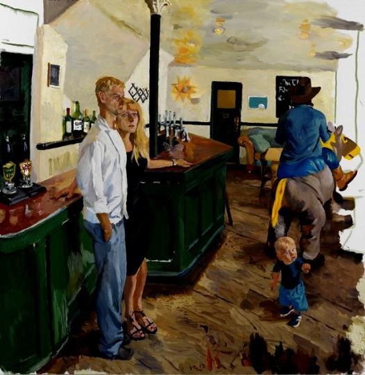 《白饭馆》220x225cm 布面油画 2013