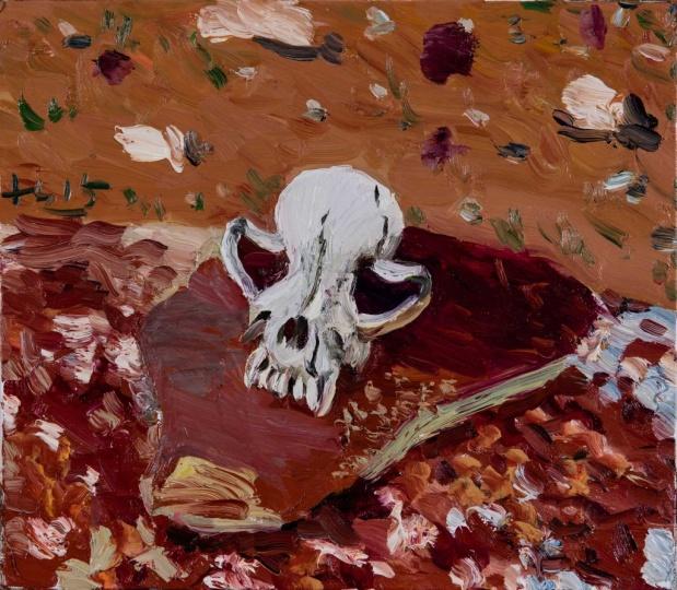 《狗骨头》35 x 40 cm 布面油画 2015