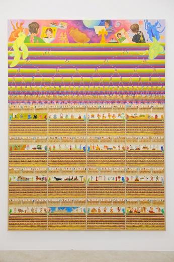 以年轮的形式来呈现知了的历史,它也有人类相对应的时代。同期,竹川宣彰在大田画廊的个展也开幕。