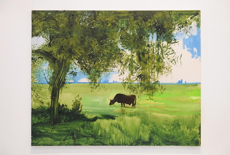 波兰艺术家威廉·萨奈尔的作品同期还在乔空间举办个展,身兼画家与电影制片人的当代画家,常见的作品风格以大块的单色调、简化的轮廓、变焦的视角以及若隐若现的建筑为视角。
