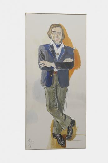 擅长肖像画的美国画家Alice Neel, 是此次米罗画廊带来最贵的一位艺术家作品。此件《John Evans》创作于1968年,售价约为600万人民币。