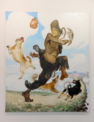 麦勒此次带来王兴伟2015年的新作《济公》(240×200cm 布面油画)作为大家对艺术家创作状态的期待与好奇的回应。据悉作品已经售出。