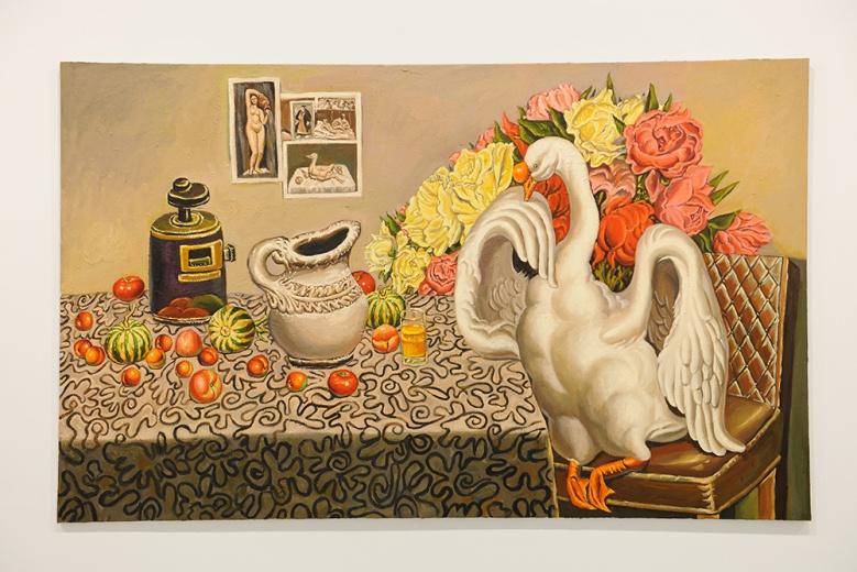 秦琦的画面继续着他那泛滥的厚重实体感和视觉的丰富性,并继续着唤起人们触觉的感受。这件《无题》无疑是艺术家极具个人特点的作品。