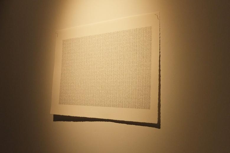 """刚在拾萬空间开幕的""""Pass Word项目"""",是艺术家蒋竹韵最近的尝试方向。毕业于中国美术学院跨媒体系的蒋竹韵其创作和研究方向涉足多种形态,装置,绘画,行为,观念,声音艺术,田野录音,以及 AudioVisual 现场等。这件由数码打印而来的《质数的图景》又一次带来了科技与艺术结合的可能。"""
