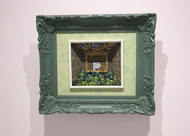吕延翔 《私人博物馆》  70 x 60cm   油画综合装置   2015