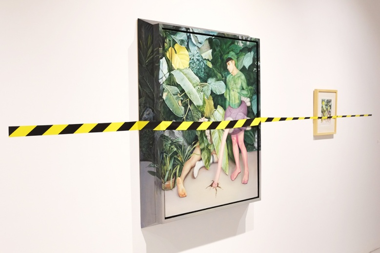 吕延翔《身份交换在168小时》115 x 95 x 14cm 布面油画  2015