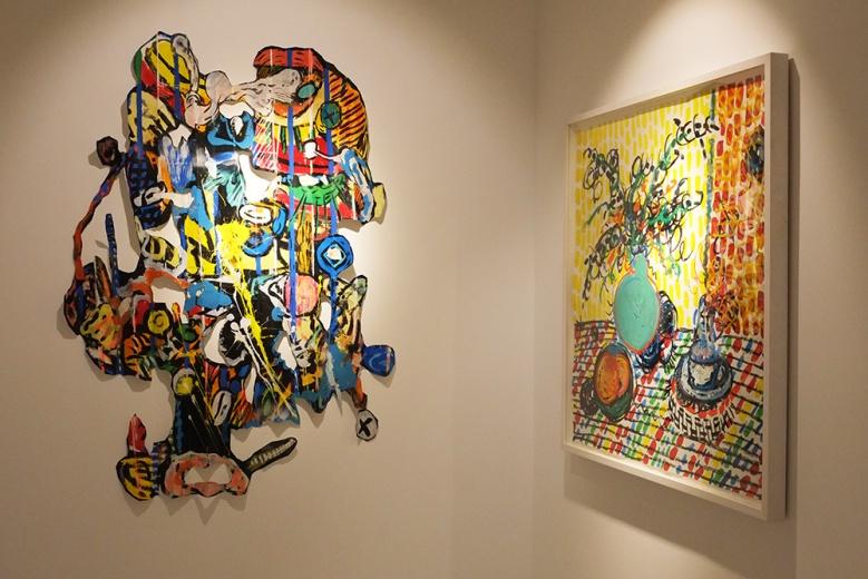 通过剪切的方式,当画作脱离画布,它与墙面的关系不再刻板。致敬常玉,栋帆最爱的艺术家,你会看到生性自由的画笔落在实物上的色彩,可以如此动人。