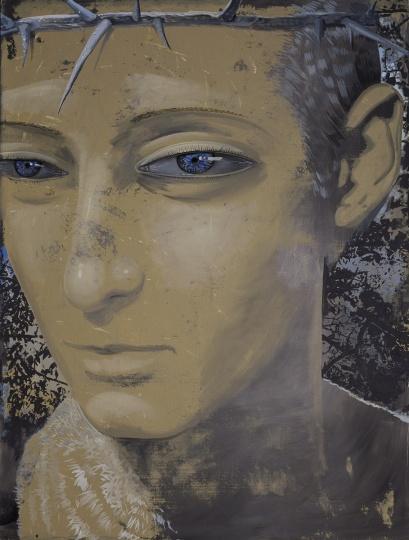 《荆棘的王冠》200×150cm 布面油画 2015