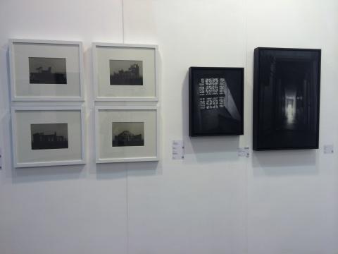 """""""2011—2014青年艺术100回顾展""""展览现场,许果作品现场"""