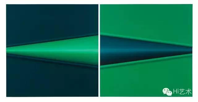 """李平 《""""新物质""""系列》 122×121cm×2 木板油画 2015"""