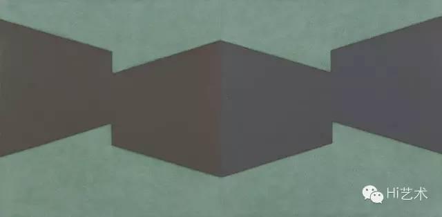 陈丽珠 《空间系列No.27》 100×100cm×2 布面油画 2014-2015
