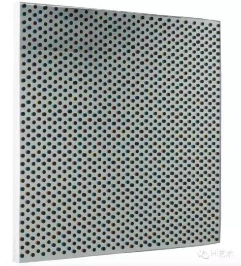 韩建宇 《重影之一》 100×100cm 布面油画、树脂 2015