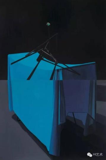 詹翀 《米开朗基罗架子和床单》(上)、《下摆》(下) 160×120cm×2 木板丙烯 2014