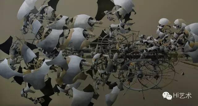 李新平 《绝对空间》 200×380cm 布面油画 2014