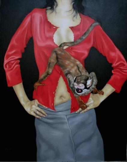 李季 《宠物No.39》 146x114cm 布面油画 2001