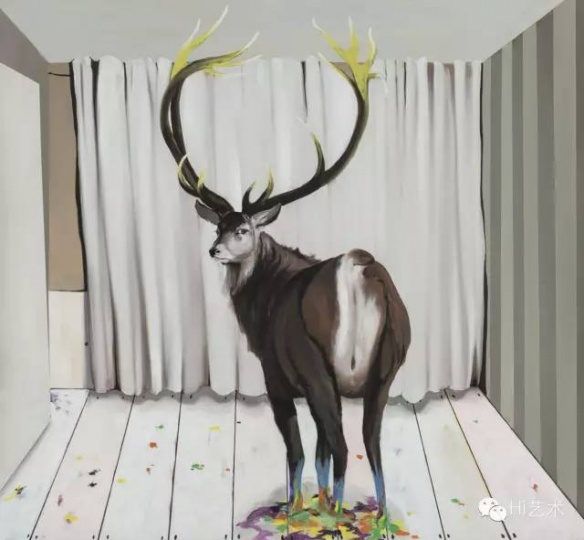 GAMA 《九色鹿#2》 120×130cm 布面油画 2015