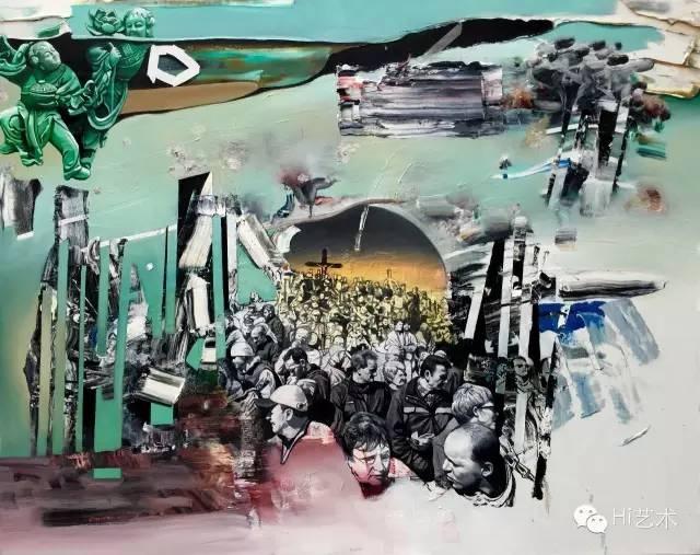 钟飙《救赎》 120×150cm 布面油画 2015