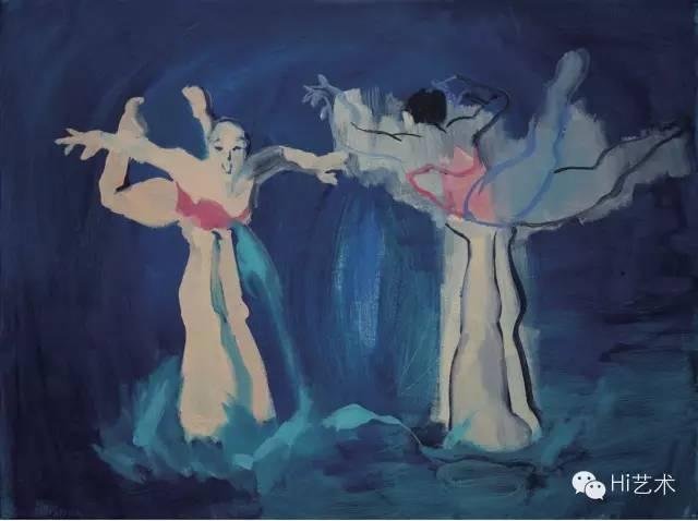 王晓曲《运动员》 60×80cm 布面油画 2015