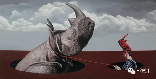 郑宏祥 《双相》 170×340cm 布面油画 2014