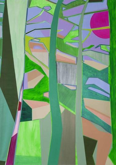 《四棵松》 200×140cm 布面丙烯 2014