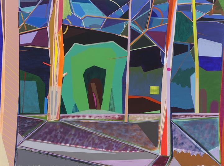 《树林》300 x 400 cm 布面丙烯、 喷漆 2015
