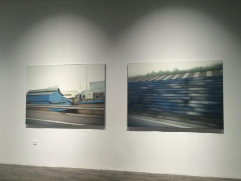 《余光No.5》、《余光No.4》180×130cm 综合材料 2012