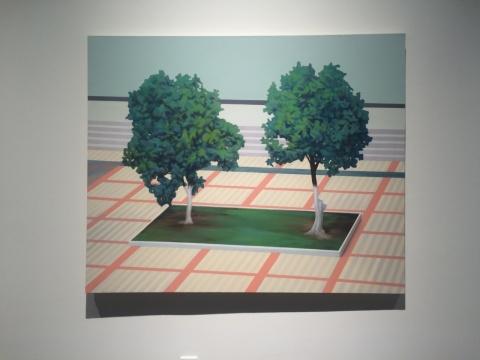 《两棵树》160×130cm 综合材料 2015