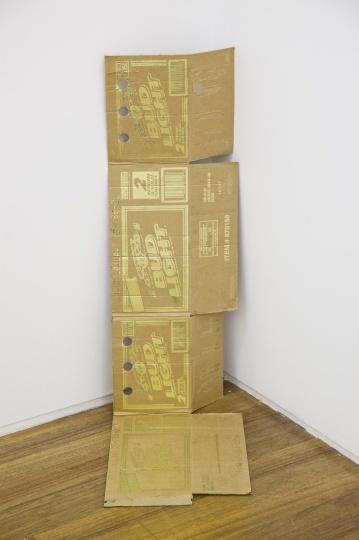 Danh Vo 《Bud Lite》 300gr (Goldleaf,cardboard and stamps) 2012