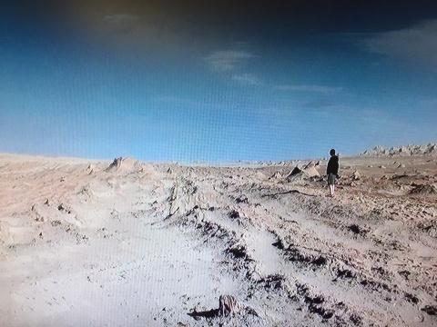 创作《何时离去》的影像资料,骆丹在西北荒漠