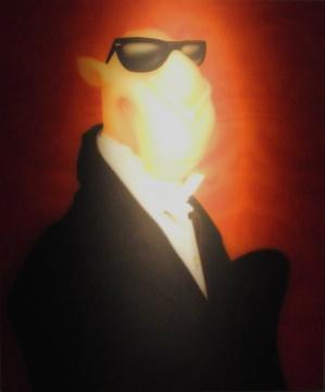 周铁海《骆驼先生》 150×120cm 布面油画 2002