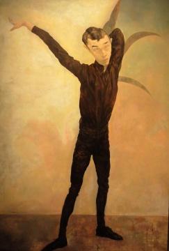 毛焰《记忆或者舞蹈的黑玫瑰》 230×150cm 布面油画 1996