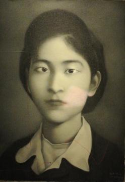张晓刚《同志系列》 79×50cm 布面油画 1995