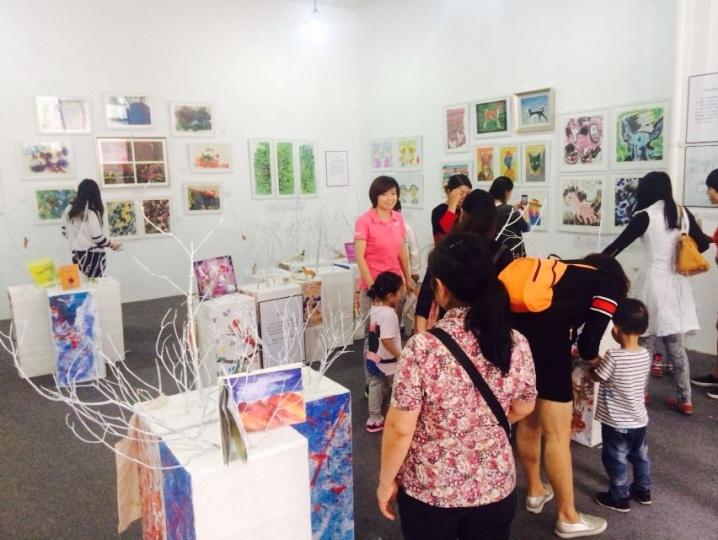 2015蓝顶艺术节儿童美术展览,大众参与度最高的环节
