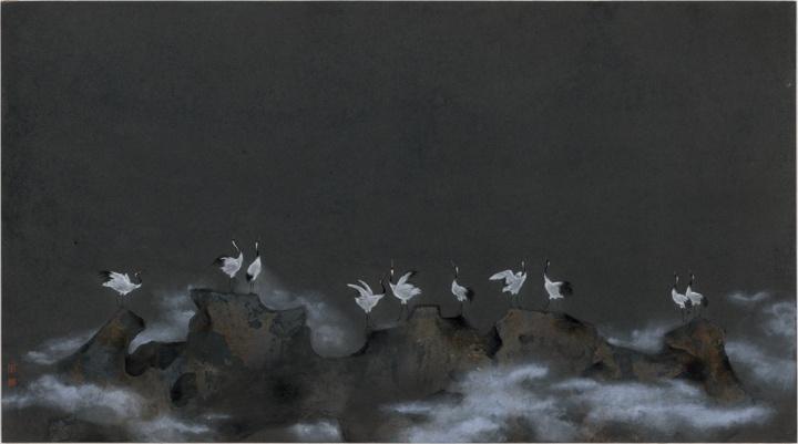 李娜《逝去的风景3》50×90cm 纸本综合 2015