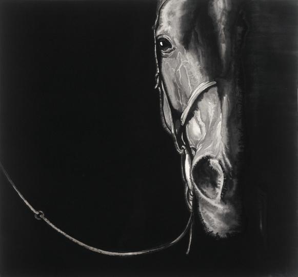 孙浩 《马的肖像16》90×97cm 纸本水墨 2013