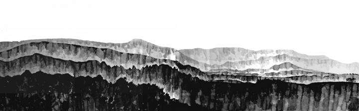 杨凯 《蓬莱2013 22 》 110×70cm(两张拼)纸本水墨2013